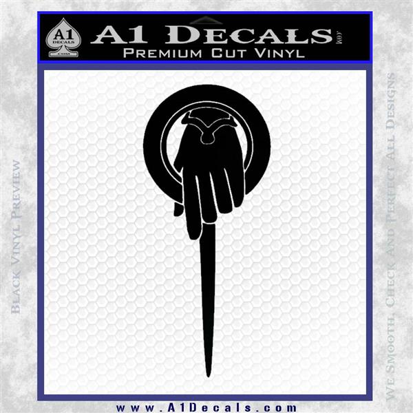 Hand Wash Car Wash >> Game of Thrones Hand of the King Pin DLB Decal Sticker » A1 Decals