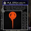 Game of Thrones Hand of the King Pin DLB Decal Sticker Orange Vinyl Emblem 120x120
