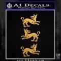 Game of Thrones House Clegane D3 Decal Sticker Metallic Gold Vinyl Vinyl 120x120