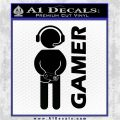 Gamer Decal Sticker Black Logo Emblem 120x120