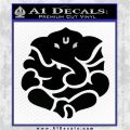Ganesh Yoga Hindu DLB Decal Sticker Black Logo Emblem 120x120