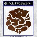Ganesh Yoga Hindu DLB Decal Sticker Brown Vinyl 120x120