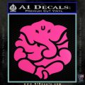 Ganesh Yoga Hindu DLB Decal Sticker Hot Pink Vinyl 120x120
