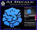 Ganesh Yoga Hindu DLB Decal Sticker Light Blue Vinyl 120x97