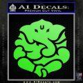 Ganesh Yoga Hindu DLB Decal Sticker Lime Green Vinyl 120x120