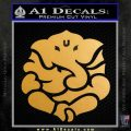 Ganesh Yoga Hindu DLB Decal Sticker Metallic Gold Vinyl 120x120