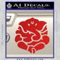 Ganesh Yoga Hindu DLB Decal Sticker Red Vinyl 120x120