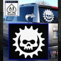 Gears of War Skull D2 Decal Sticker White Emblem 120x120