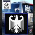 German Flag Coat of Arms Eagle Germany Decal Sticker White Emblem 120x120