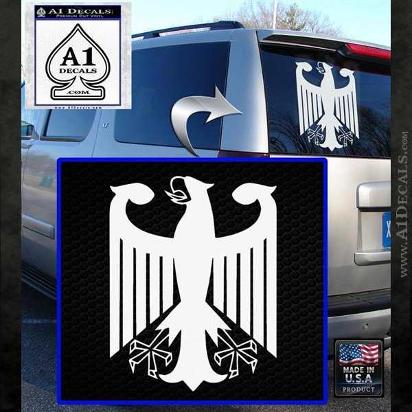 German Flag Coat Of Arms Eagle Germany Decal Sticker A1 Decals
