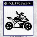 Girl Motorcycle Racing Vinyl Decal Sticker Black Logo Emblem 120x120