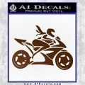 Girl Motorcycle Racing Vinyl Decal Sticker Brown Vinyl 120x120