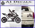 Girl Motorcycle Racing Vinyl Decal Sticker Carbon Fiber Black 120x97