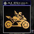 Girl Motorcycle Racing Vinyl Decal Sticker Metallic Gold Vinyl 120x120