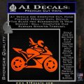 Girl Motorcycle Racing Vinyl Decal Sticker Orange Vinyl Emblem 120x120