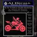 Girl Motorcycle Racing Vinyl Decal Sticker Pink Vinyl Emblem 120x120