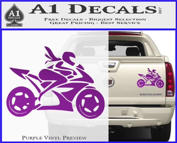 Girl Motorcycle Racing Vinyl Decal Sticker A Decals - Best vinyl decal stickers
