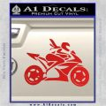 Girl Motorcycle Racing Vinyl Decal Sticker Red Vinyl 120x120