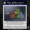 Girl Motorcycle Racing Vinyl Decal Sticker Sparkle Glitter Vinyl 120x120