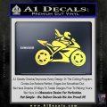 Girl Motorcycle Racing Vinyl Decal Sticker Yelllow Vinyl 120x120