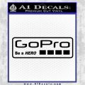 Go Pro Decal Sticker Logo Black Logo Emblem 120x120