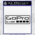 Go Pro Decal Sticker Logo Black Logo Emblem 120x120