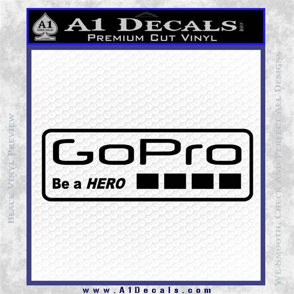 Go Pro Decal Sticker Logo Black Logo Emblem