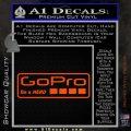 Go Pro Decal Sticker Logo Orange Vinyl Emblem 120x120