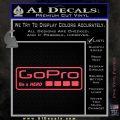 Go Pro Decal Sticker Logo Pink Vinyl Emblem 120x120