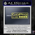 Go Pro Decal Sticker Logo Yelllow Vinyl 120x120