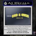 God Guns Since 1776 Decal Sticker Yelllow Vinyl 120x120