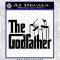 Godfather Film RDZ Decal Sticker Black Logo Emblem 120x120