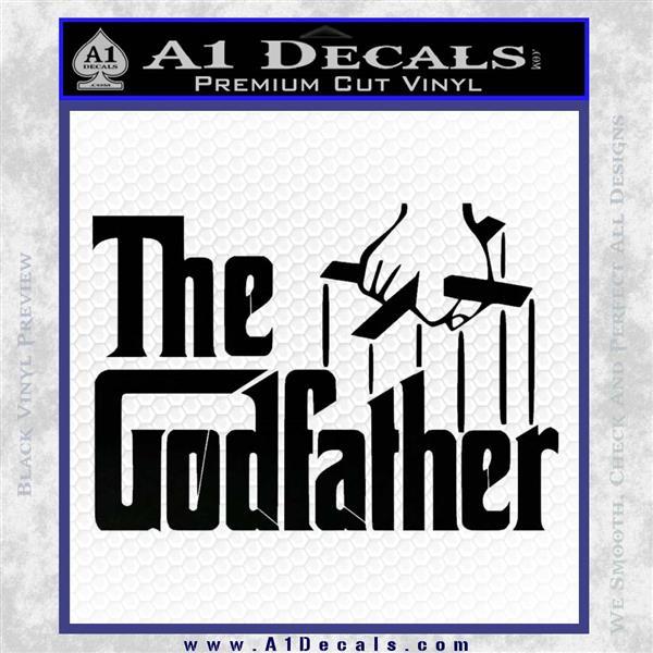 Godfather Film RDZ Decal Sticker Black Logo Emblem