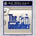 Godfather Film RDZ Decal Sticker Blue Vinyl 120x120