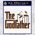 Godfather Film RDZ Decal Sticker Brown Vinyl 120x120