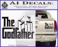 Godfather Film RDZ Decal Sticker Carbon Fiber Black 120x97