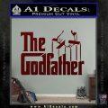Godfather Film RDZ Decal Sticker Dark Red Vinyl 120x120