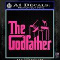 Godfather Film RDZ Decal Sticker Hot Pink Vinyl 120x120