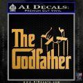 Godfather Film RDZ Decal Sticker Metallic Gold Vinyl 120x120