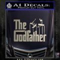 Godfather Film RDZ Decal Sticker Silver Vinyl 120x120