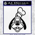Goofy F1 Decal Sticker Black Logo Emblem 120x120
