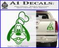 Goofy F1 Decal Sticker Green Vinyl 120x97