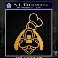Goofy F1 Decal Sticker Metallic Gold Vinyl 120x120
