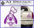 Goofy F1 Decal Sticker Purple Vinyl 120x97