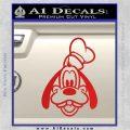 Goofy F1 Decal Sticker Red Vinyl 120x120