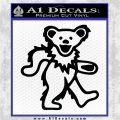 Greatful Dead Dancing Bear Decal Sticker Black Logo Emblem 120x120