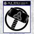 Greek God Hammer Thor Decal Sticker Black Logo Emblem 120x120