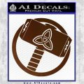 Greek God Hammer Thor Decal Sticker Brown Vinyl 120x120