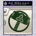 Greek God Hammer Thor Decal Sticker Dark Green Vinyl 120x120