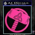 Greek God Hammer Thor Decal Sticker Hot Pink Vinyl 120x120